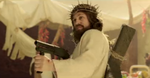 Jesus with a rifle